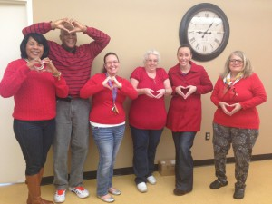 FPMSA staff wears red for Heart Disease
