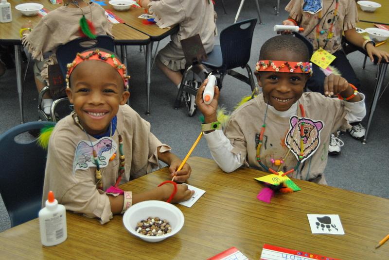 Morningside Elementary kindergartners create bravery badges