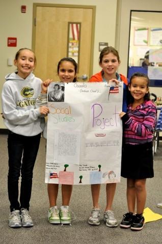 Fourth grade at Allapattah Flats is looking back at history