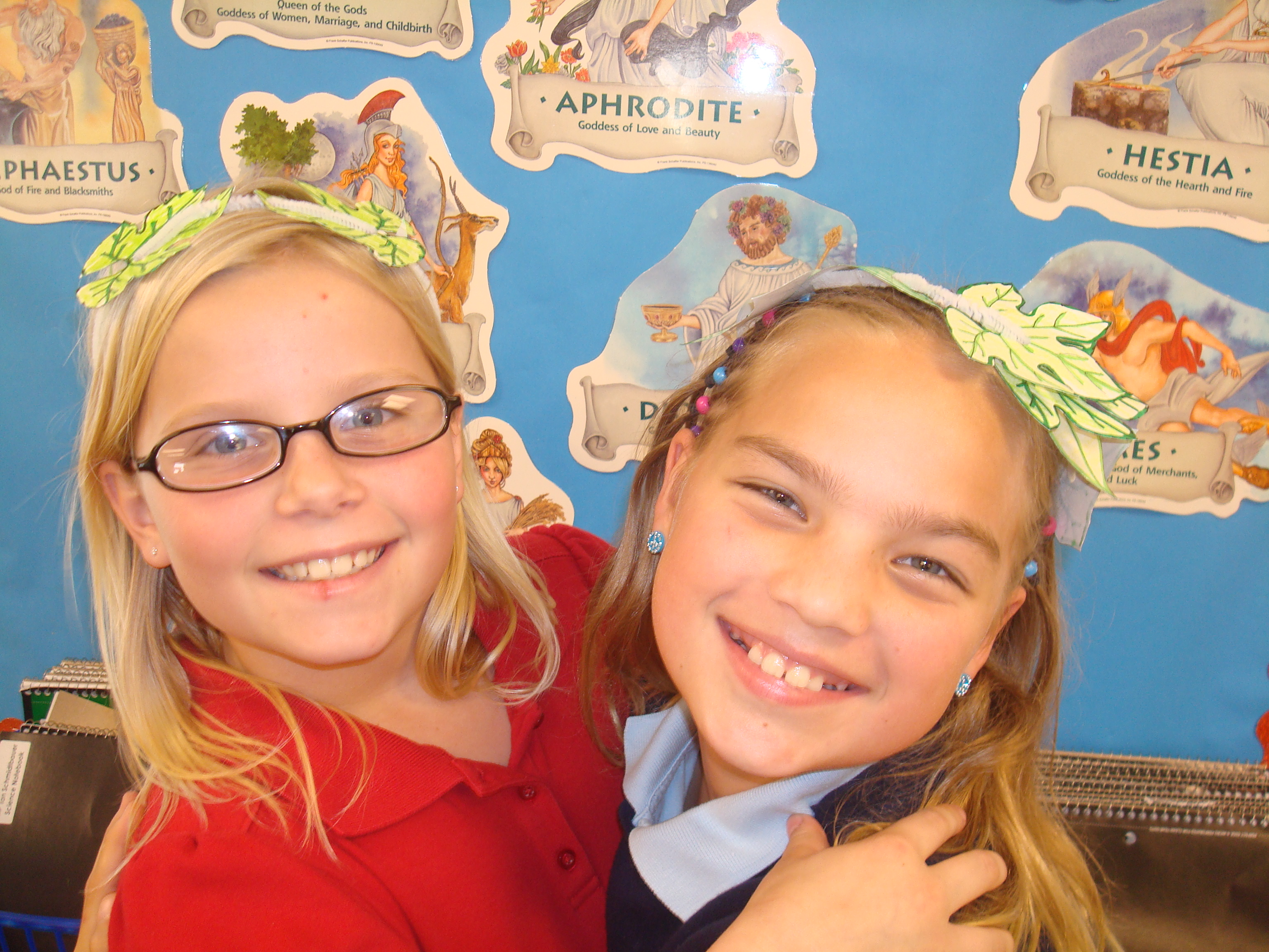 Third graders study Greek civilization