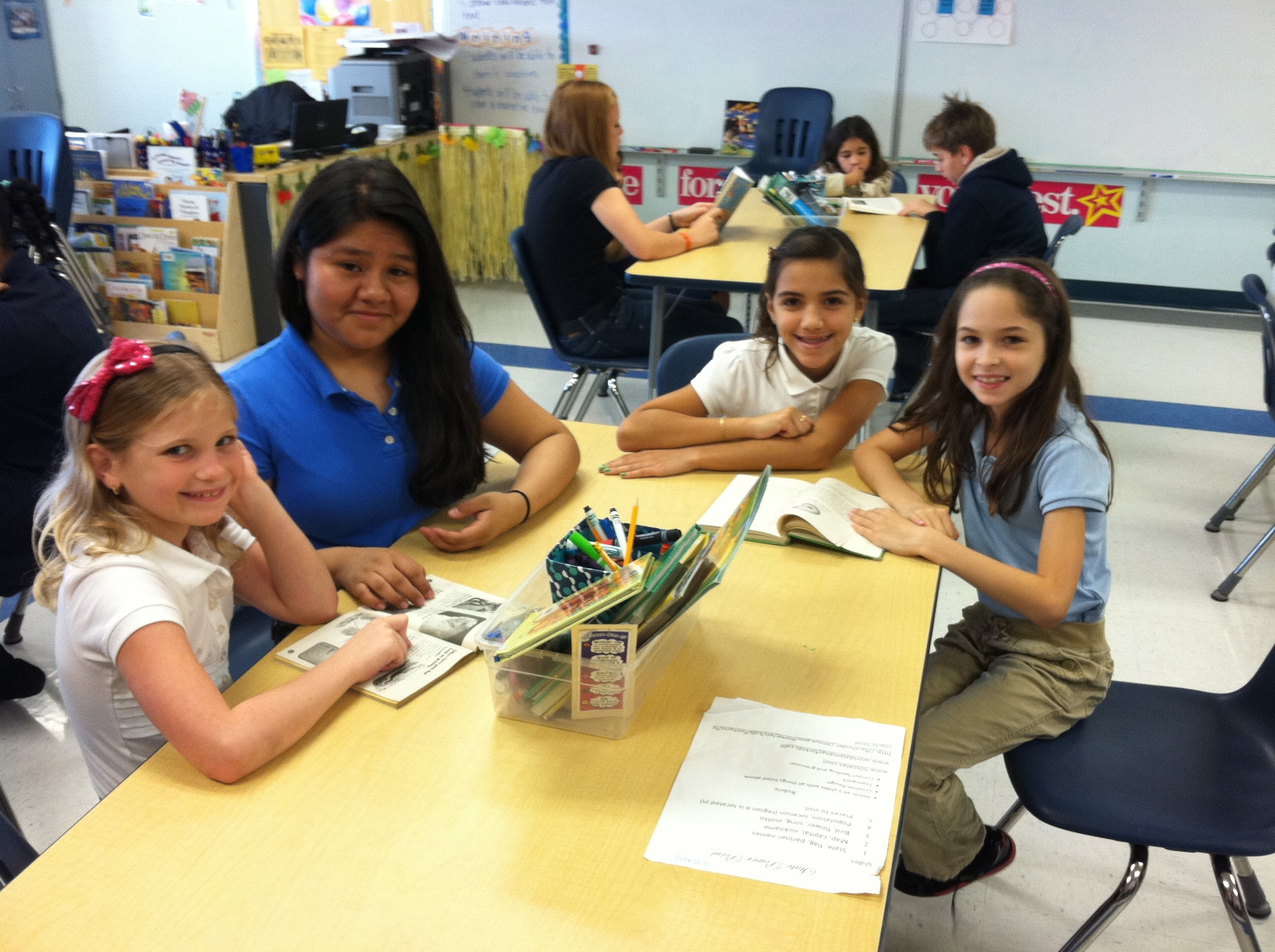Reading Buddies enjoyed by Palm Pointe students