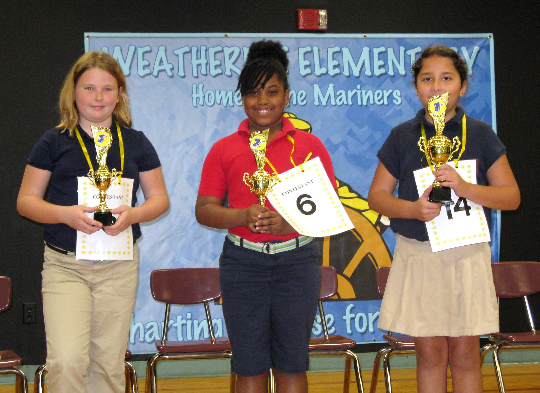 Weatherbee Elementary names spelling bee winners