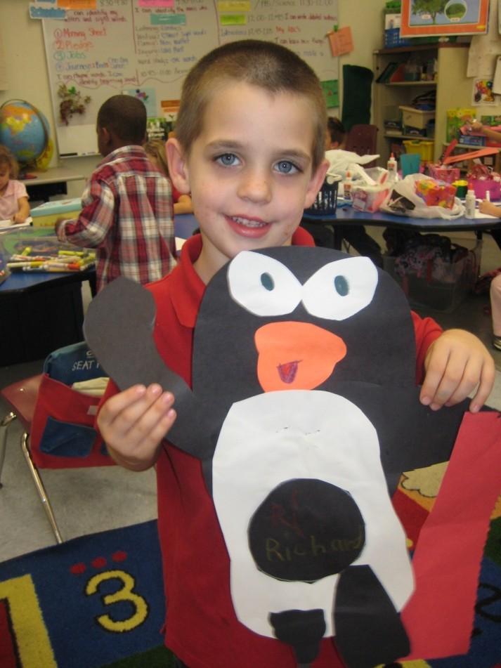 Mariposa Elementary kindergartners study penguins