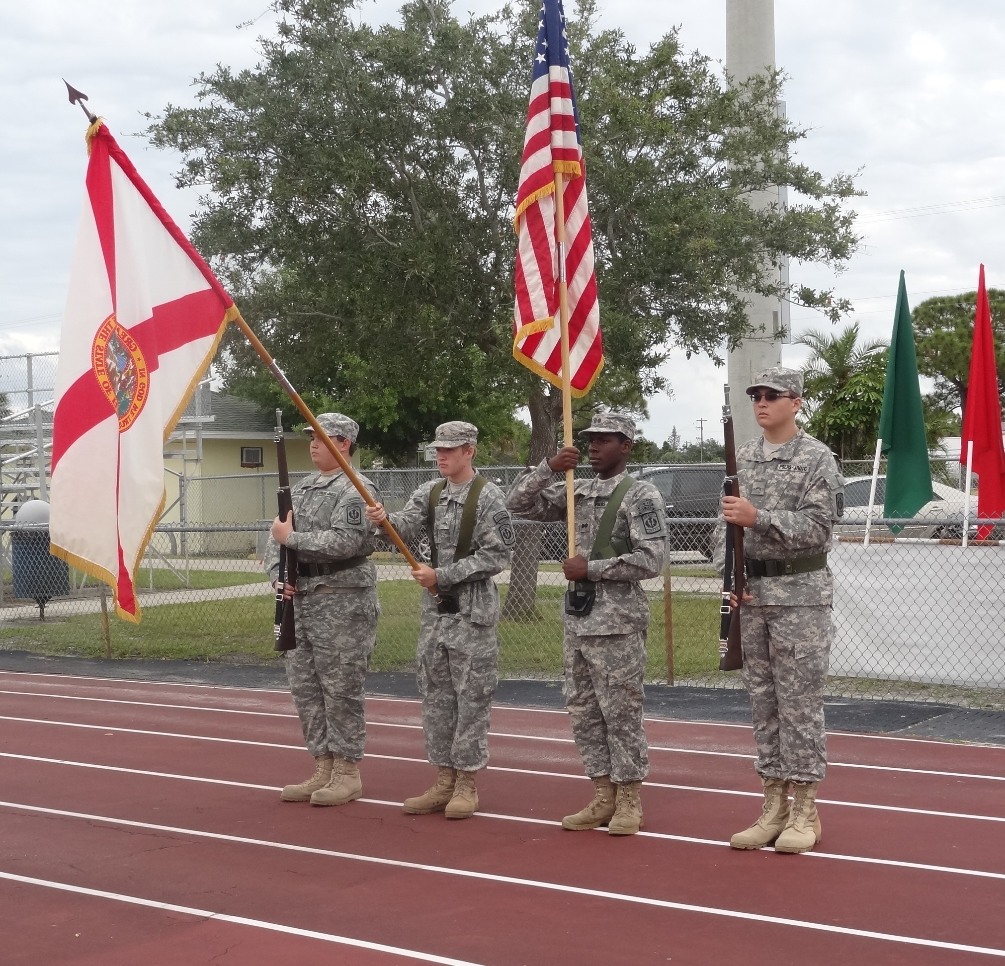 Jaguar Color Guard opens Caribbean-American Festival