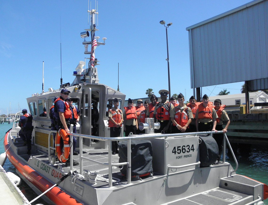Centennial cadets visit Coast Guard station