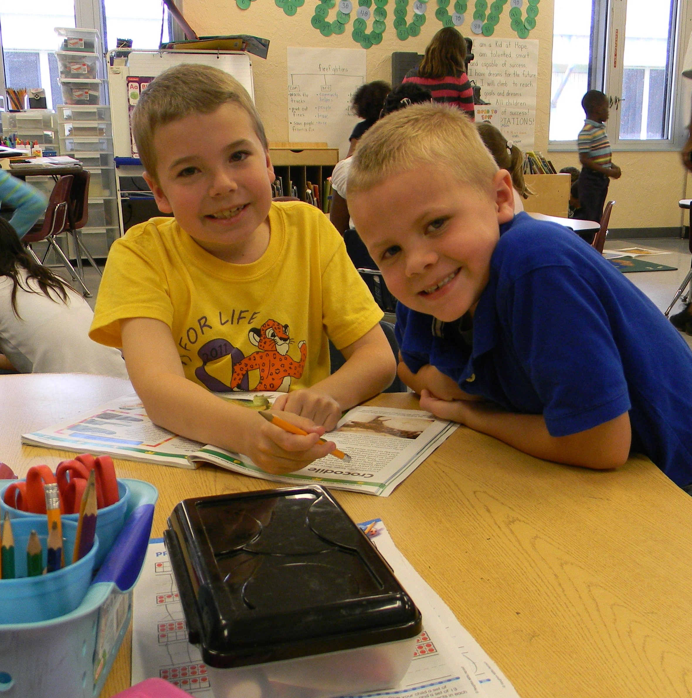 Reading buddies create learning partnerships