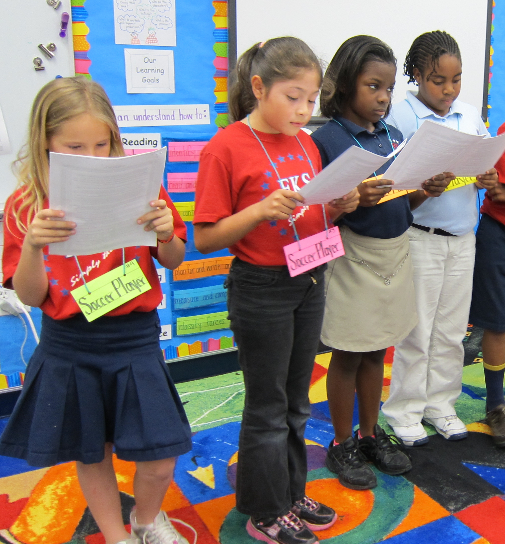 Second graders enjoy the excitement of Readers Theatre