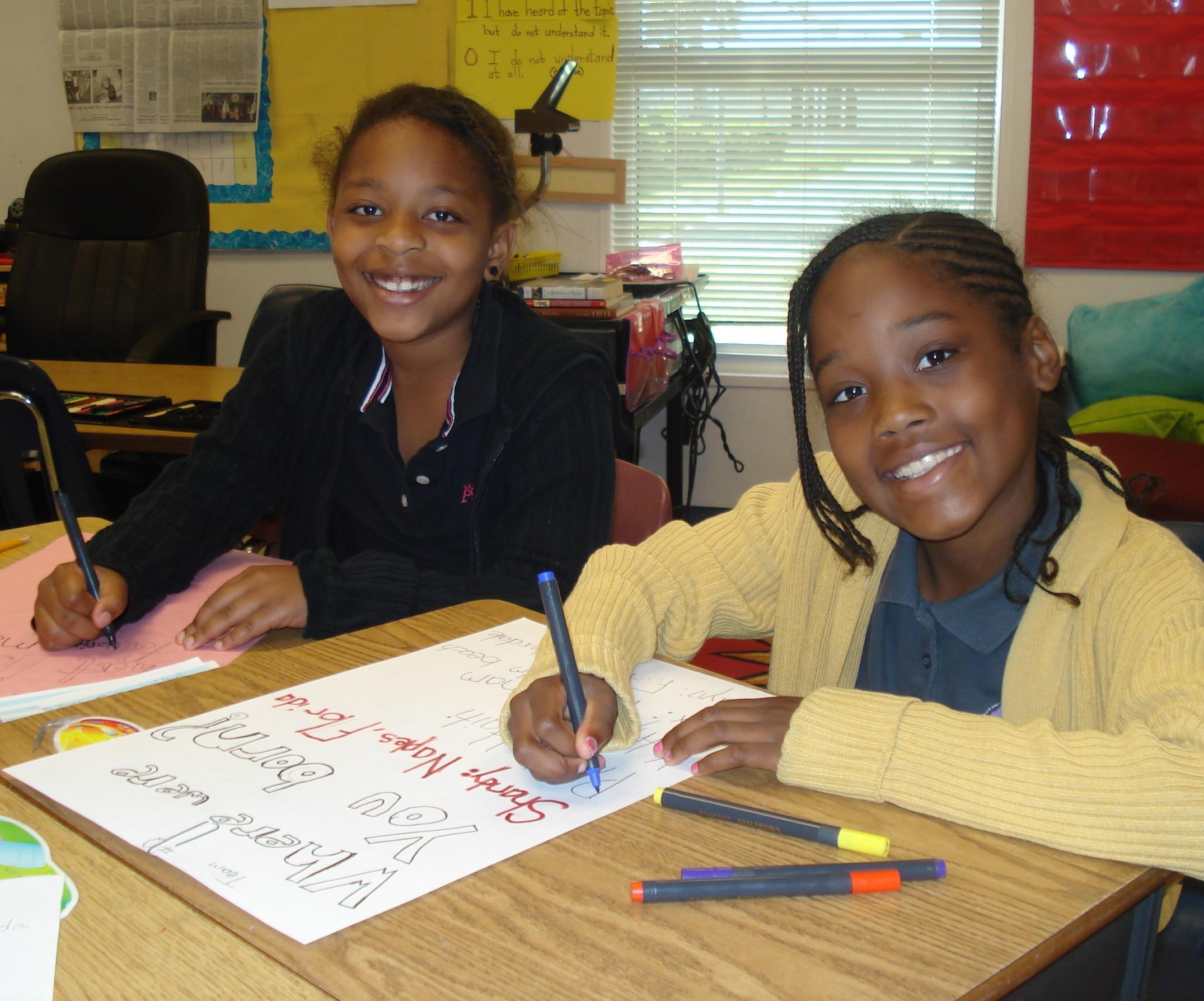 Bayshore Elementary School students create poems