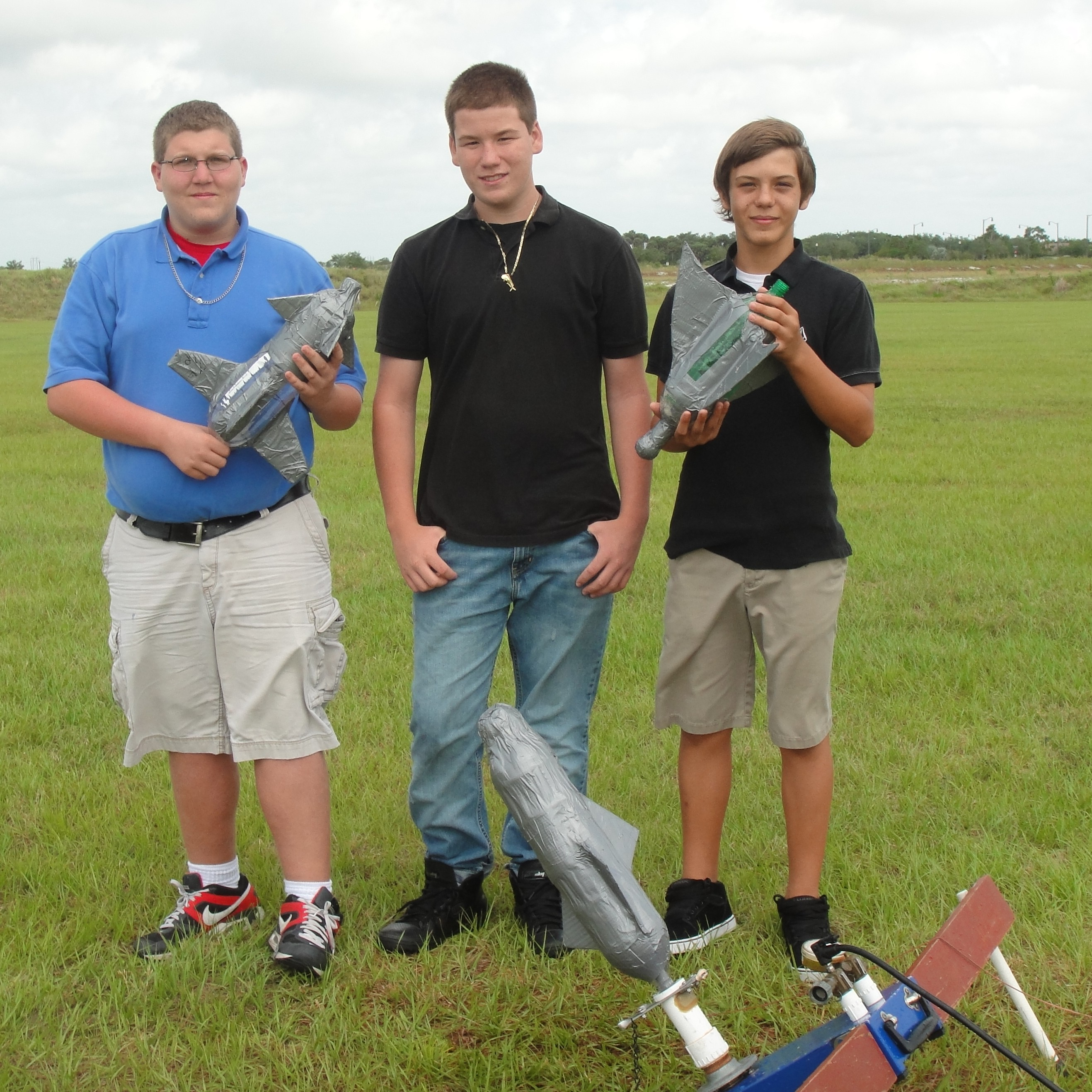 Eighth grade students at Palm Pointe launch rockets