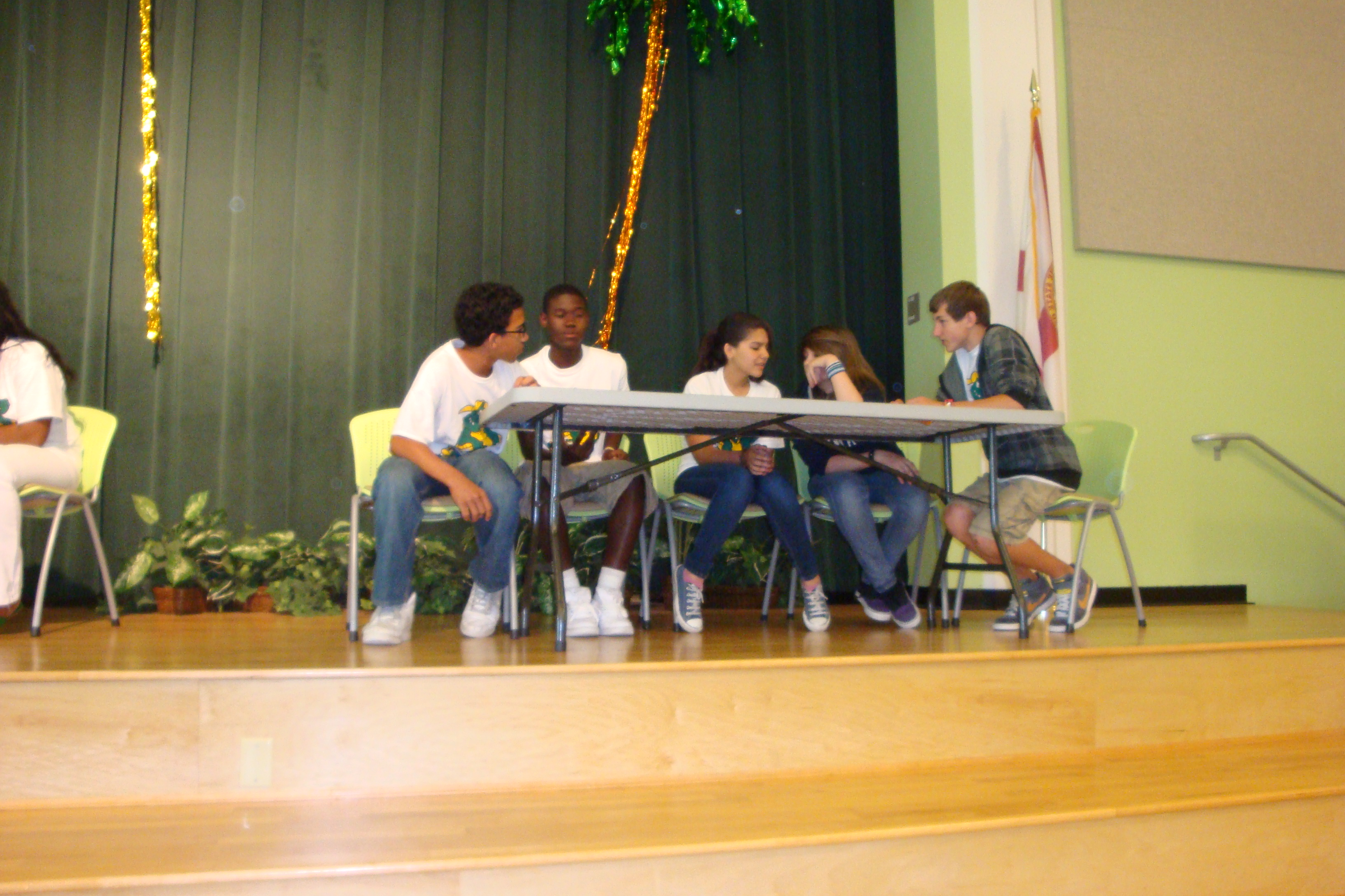 There's a 'Battle of the Books' in middle school at Allapattah Flats K8