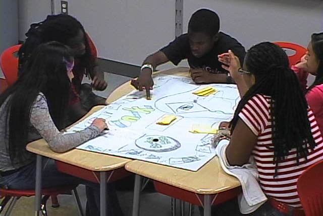 Gaines Academy students create study board game
