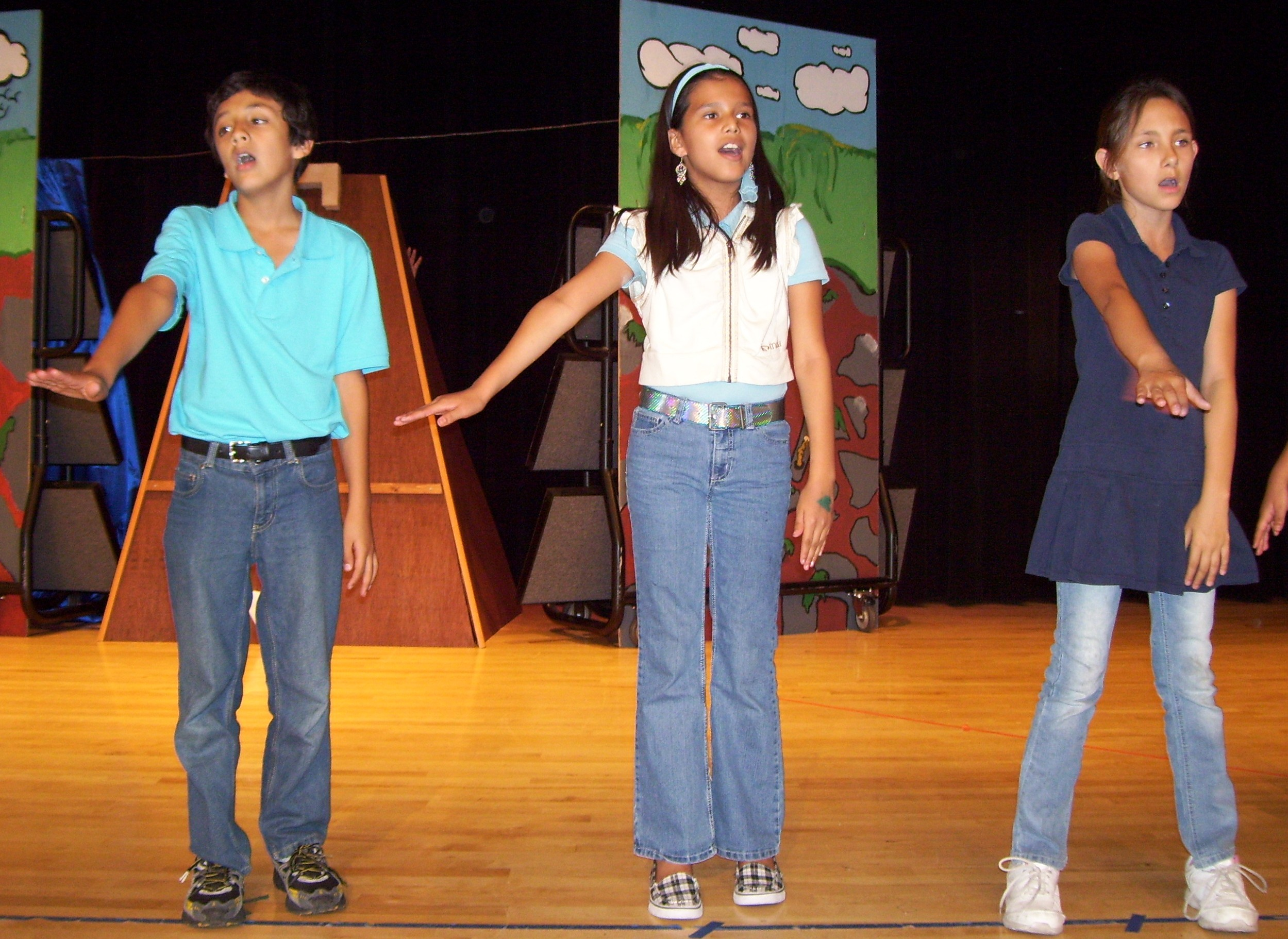 Gaines Academy students practice for year-end musical