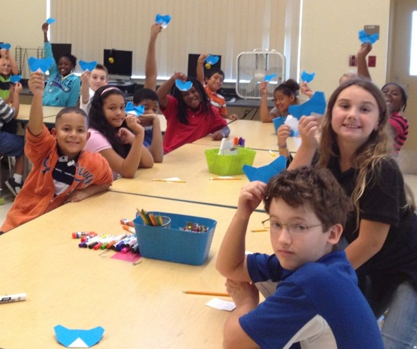 Allapattah Flats students learn to create artwork using Origami
