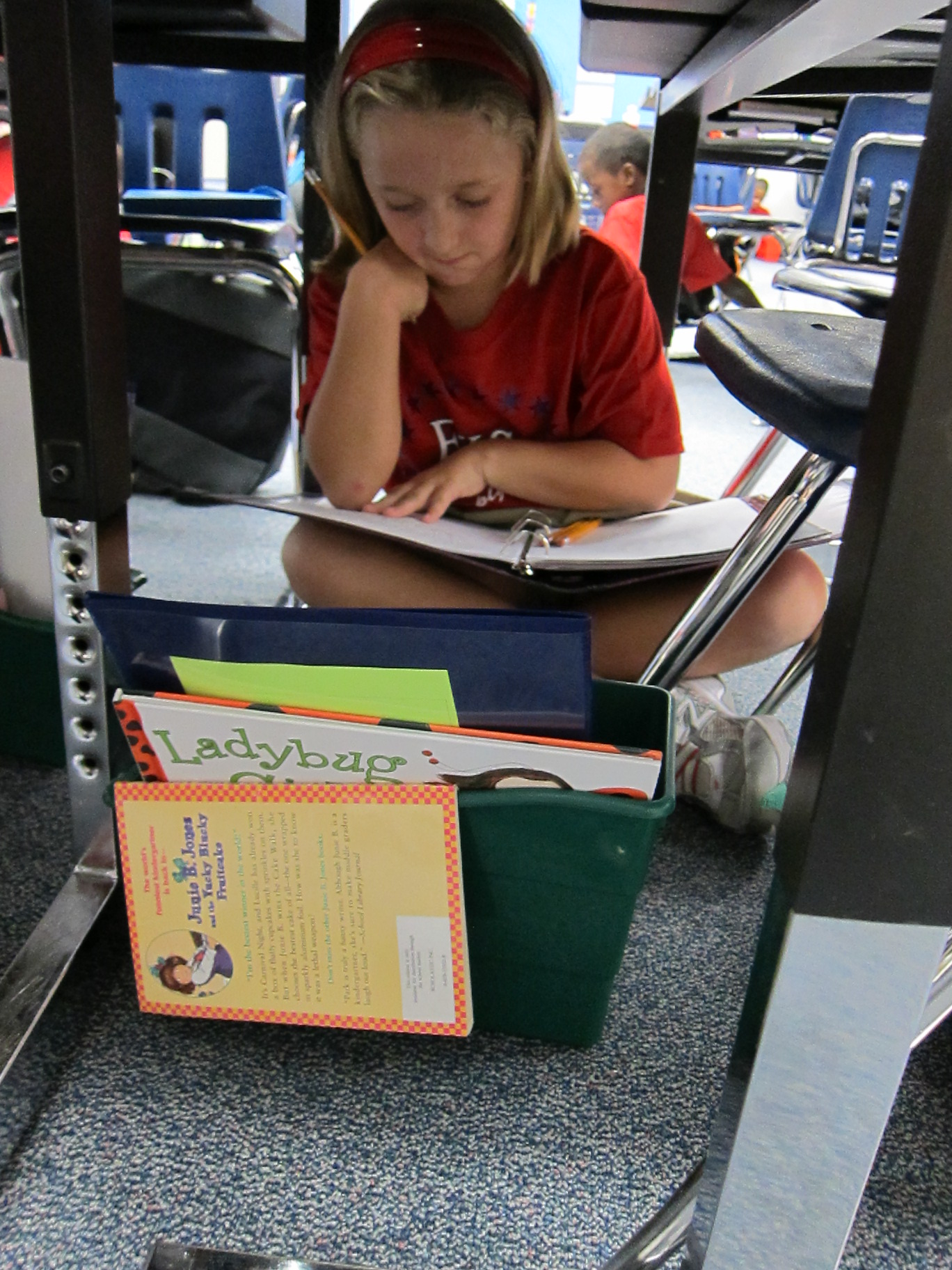 F. K. Sweet students work on writing