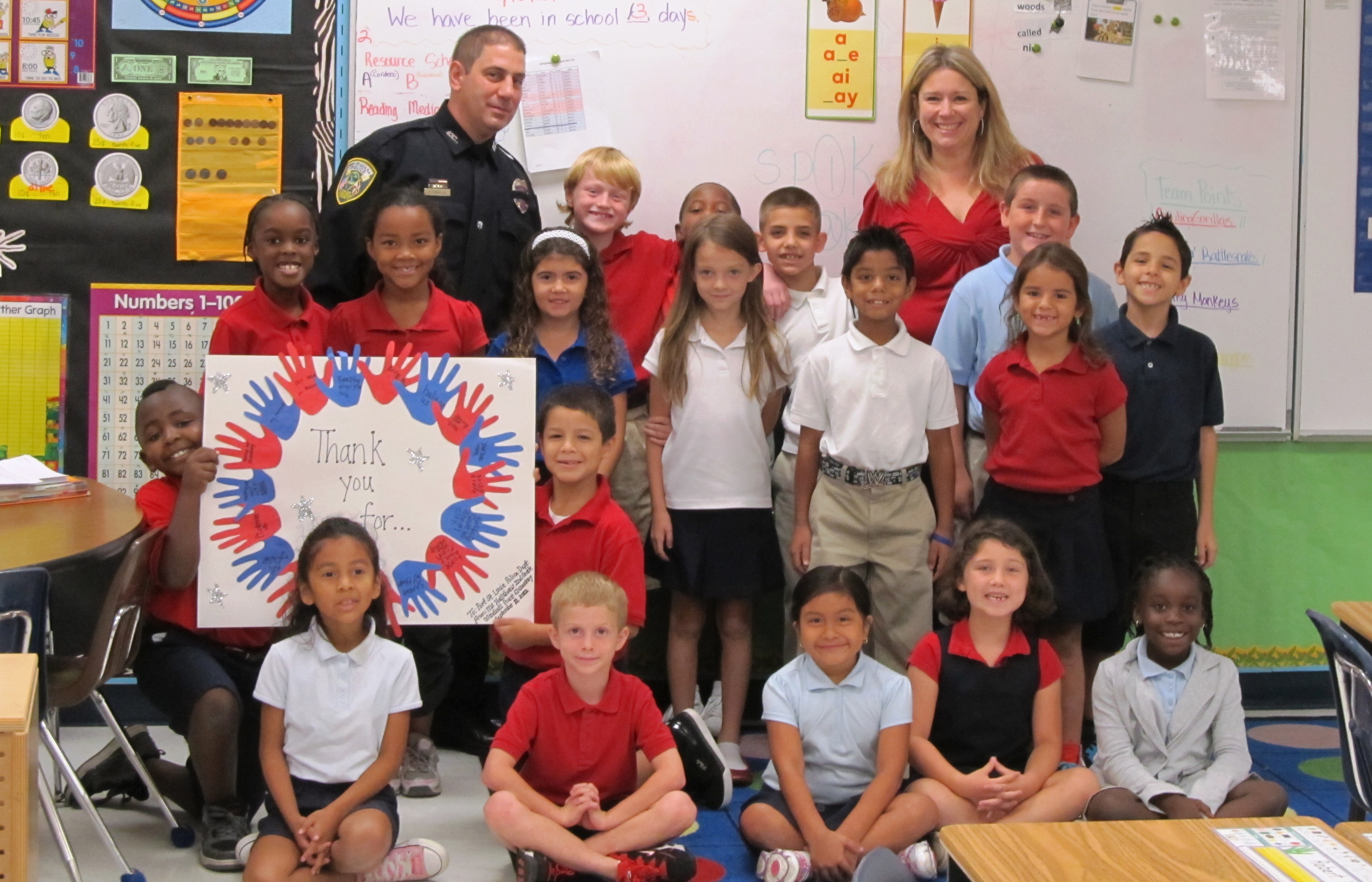 Windmill Point students learn about first responders