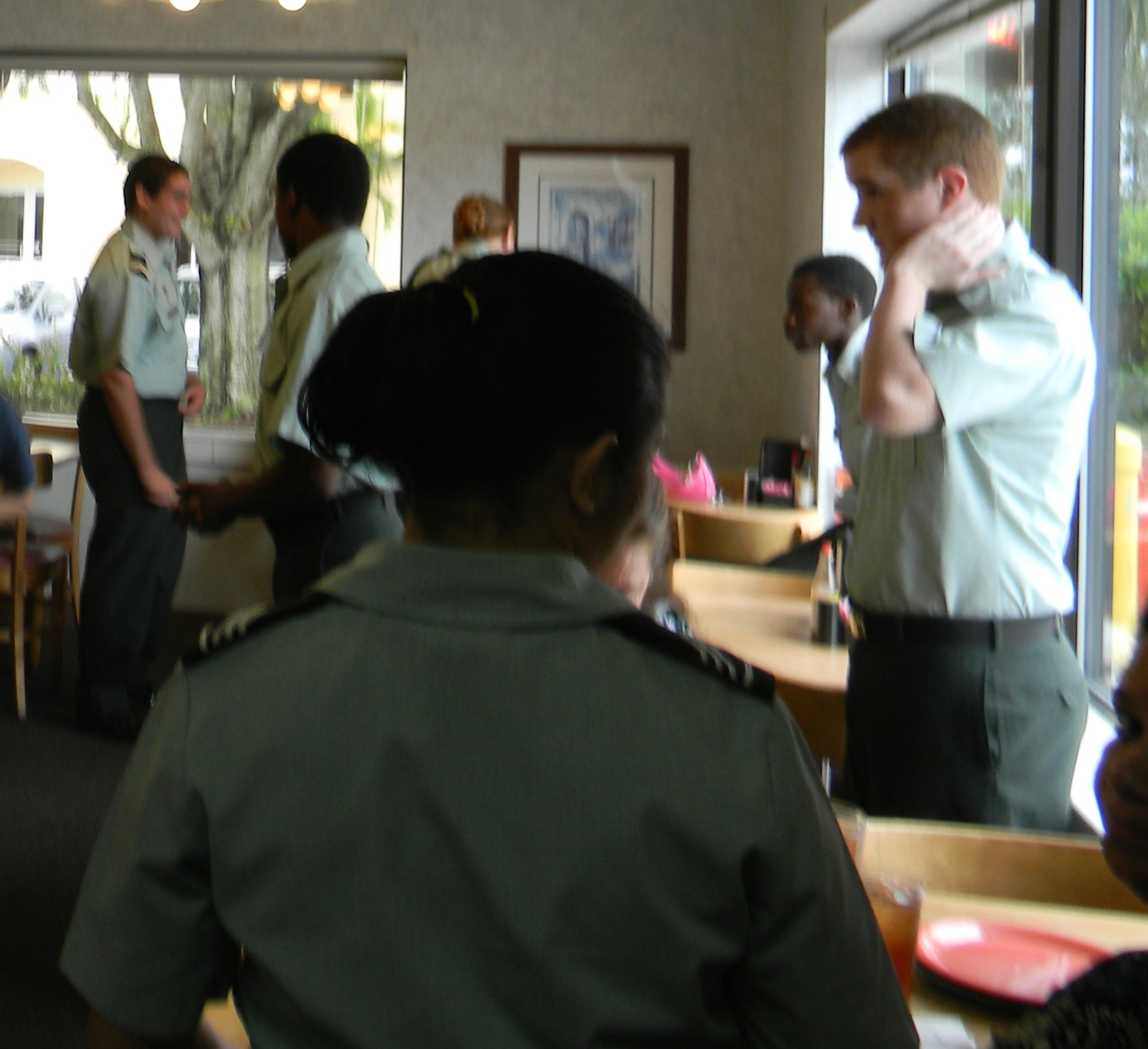 Westwood High School cadets raise funds by serving diners