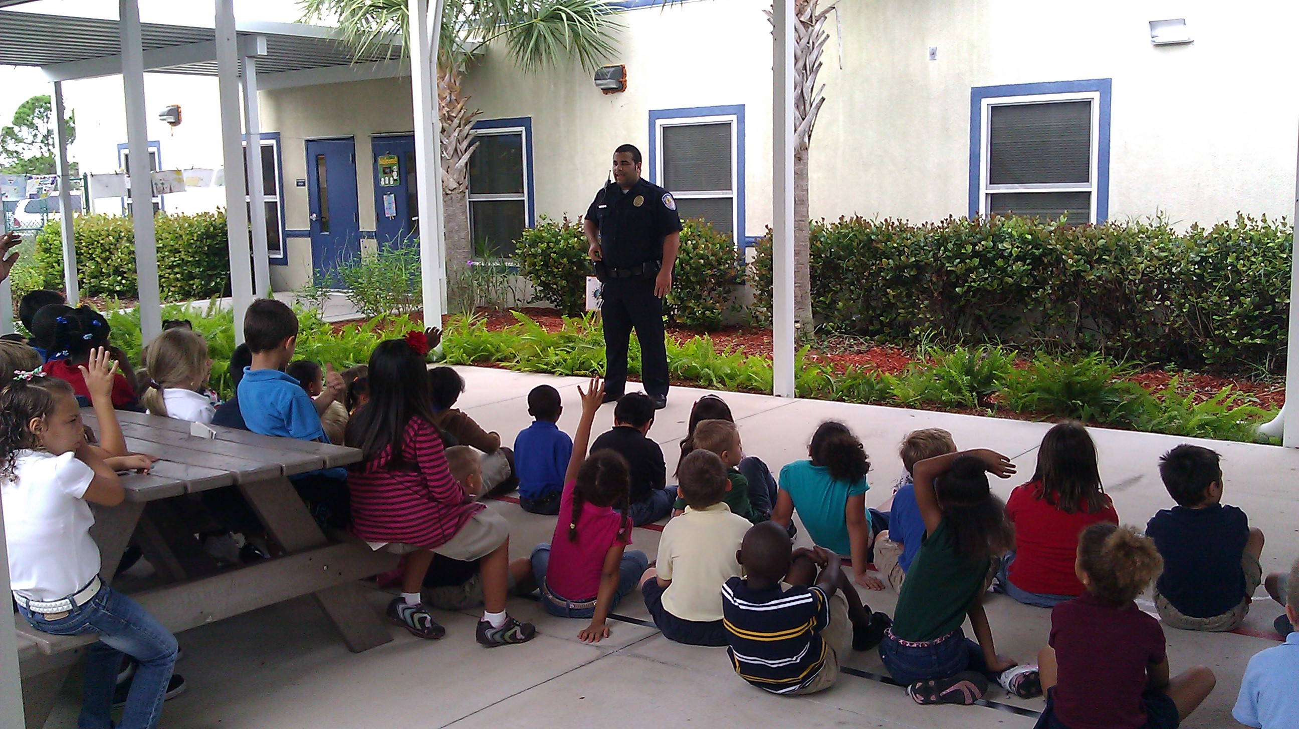 Northport first graders receive visit from community helper