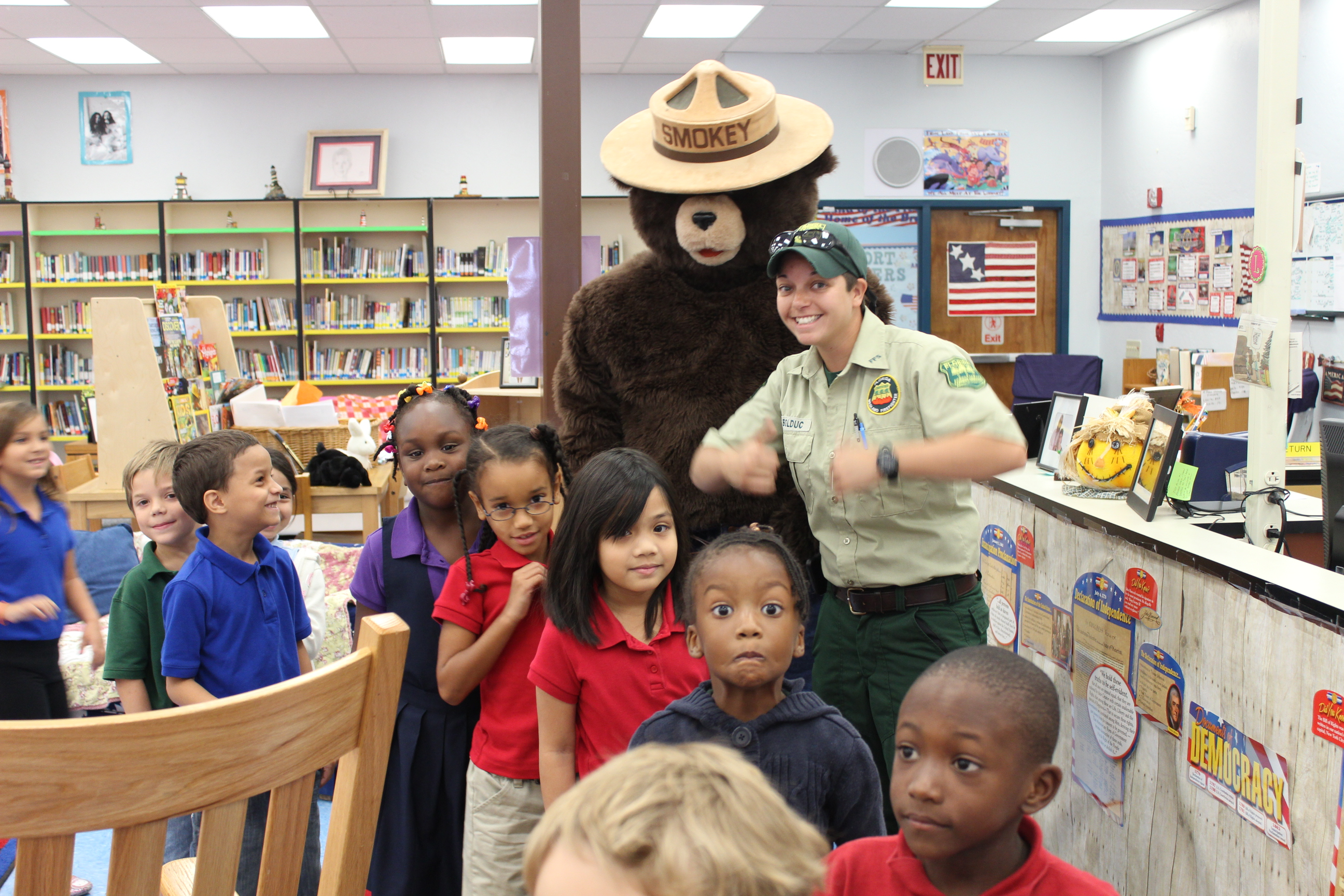Northport first graders receive visit from Florida forestry service