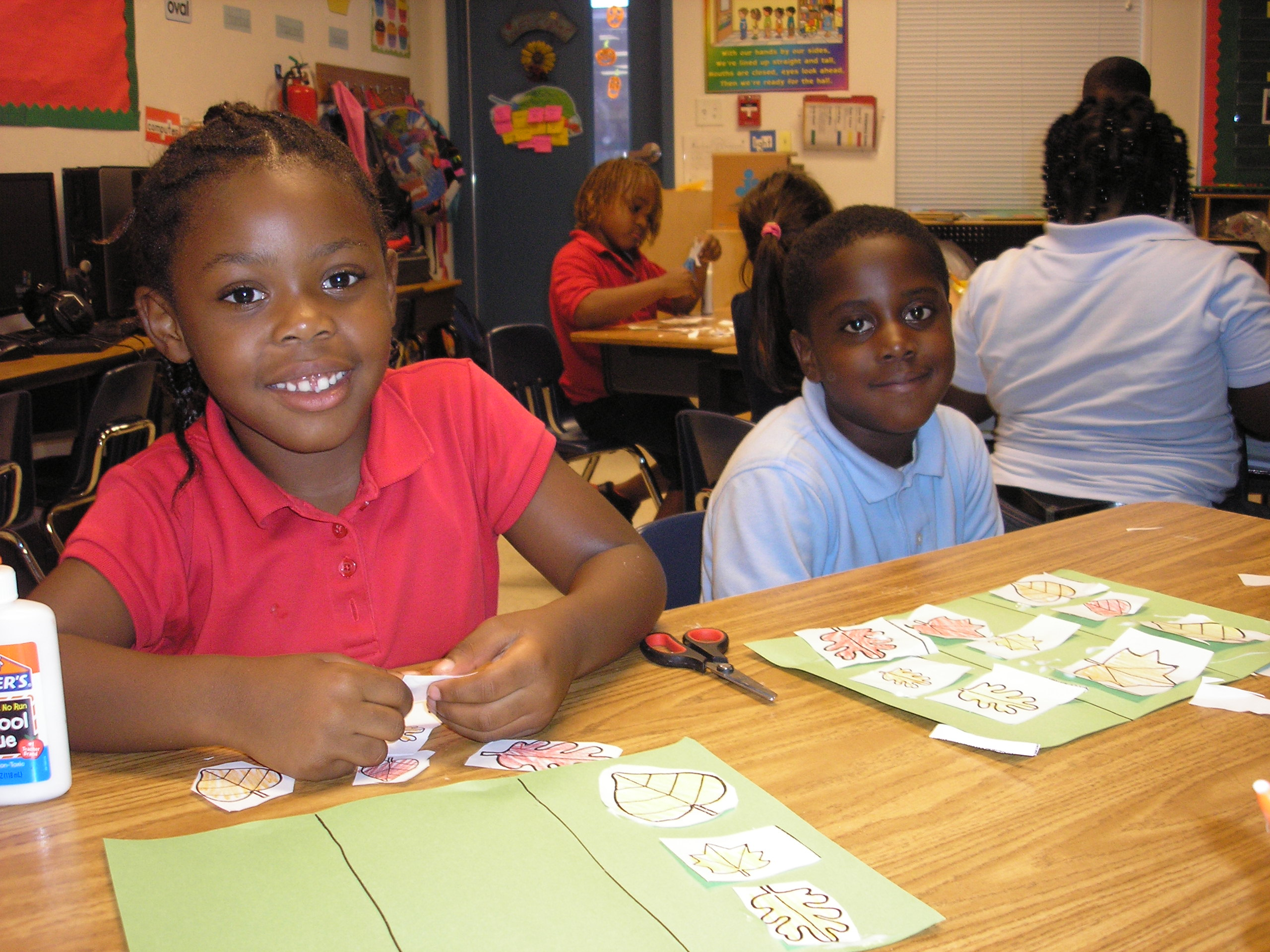 Kindergarteners at Frances K Sweet practice classifying