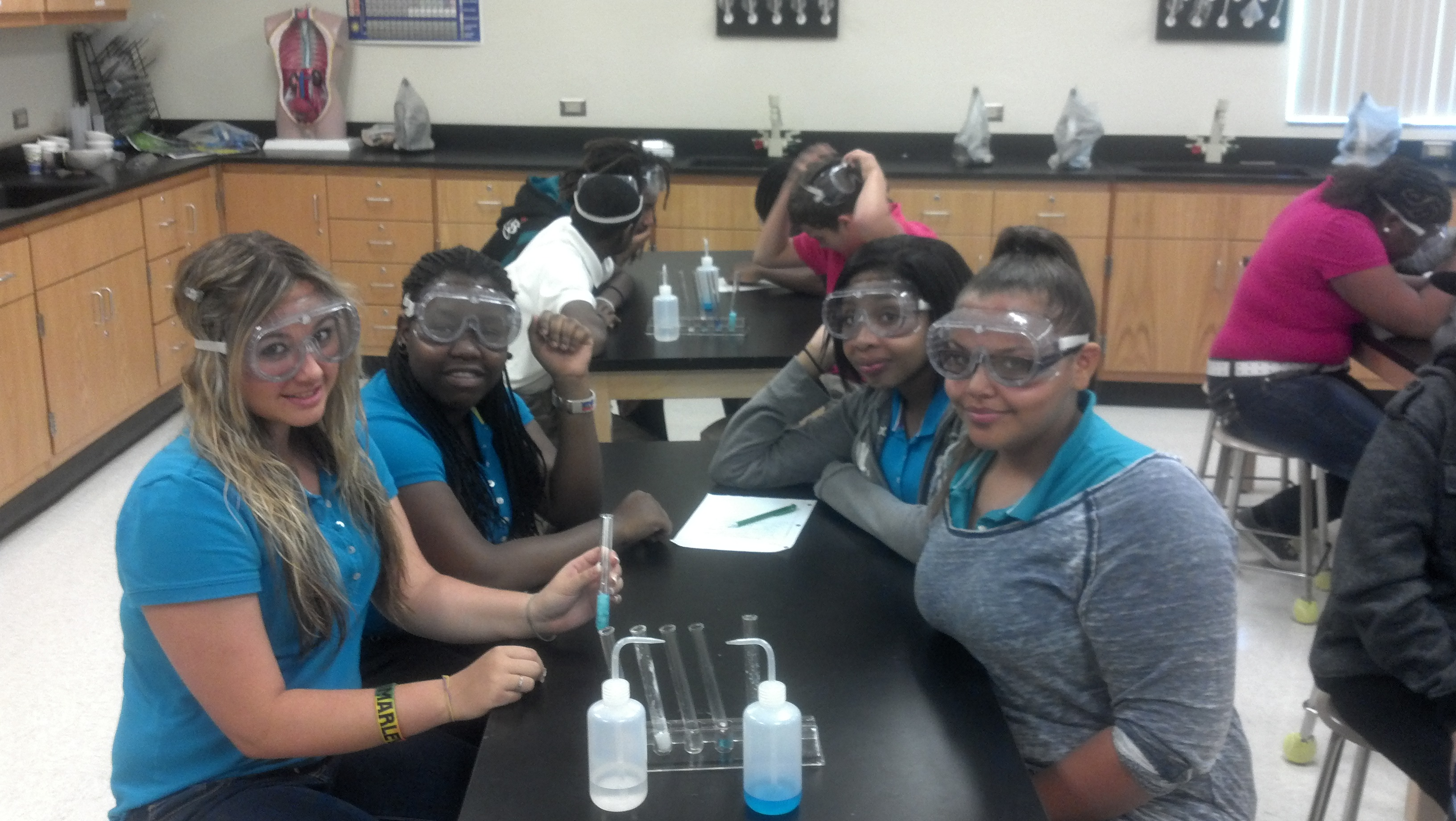 Allapattah Flats students learn about various kinds of matter