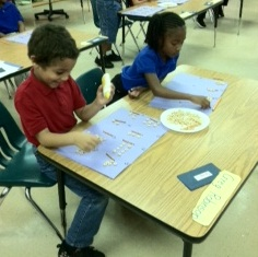 Students enjoy edible math at Garden City