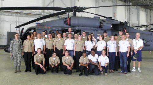 Centennial High School cadets tour Air Force base