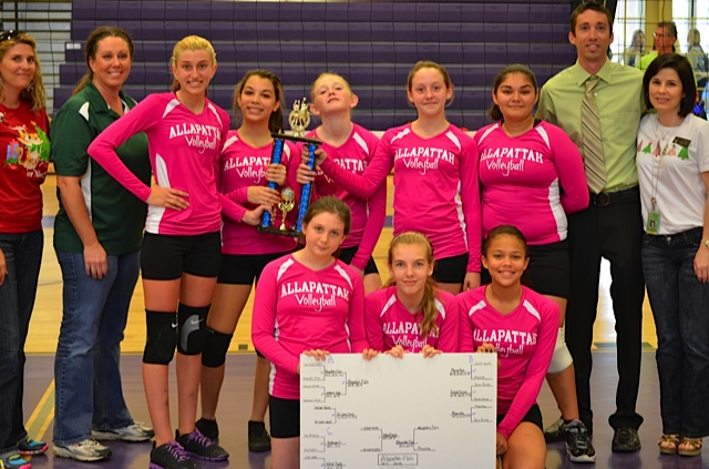 Allapattah K8 girls volleyball takes first place in county tournament
