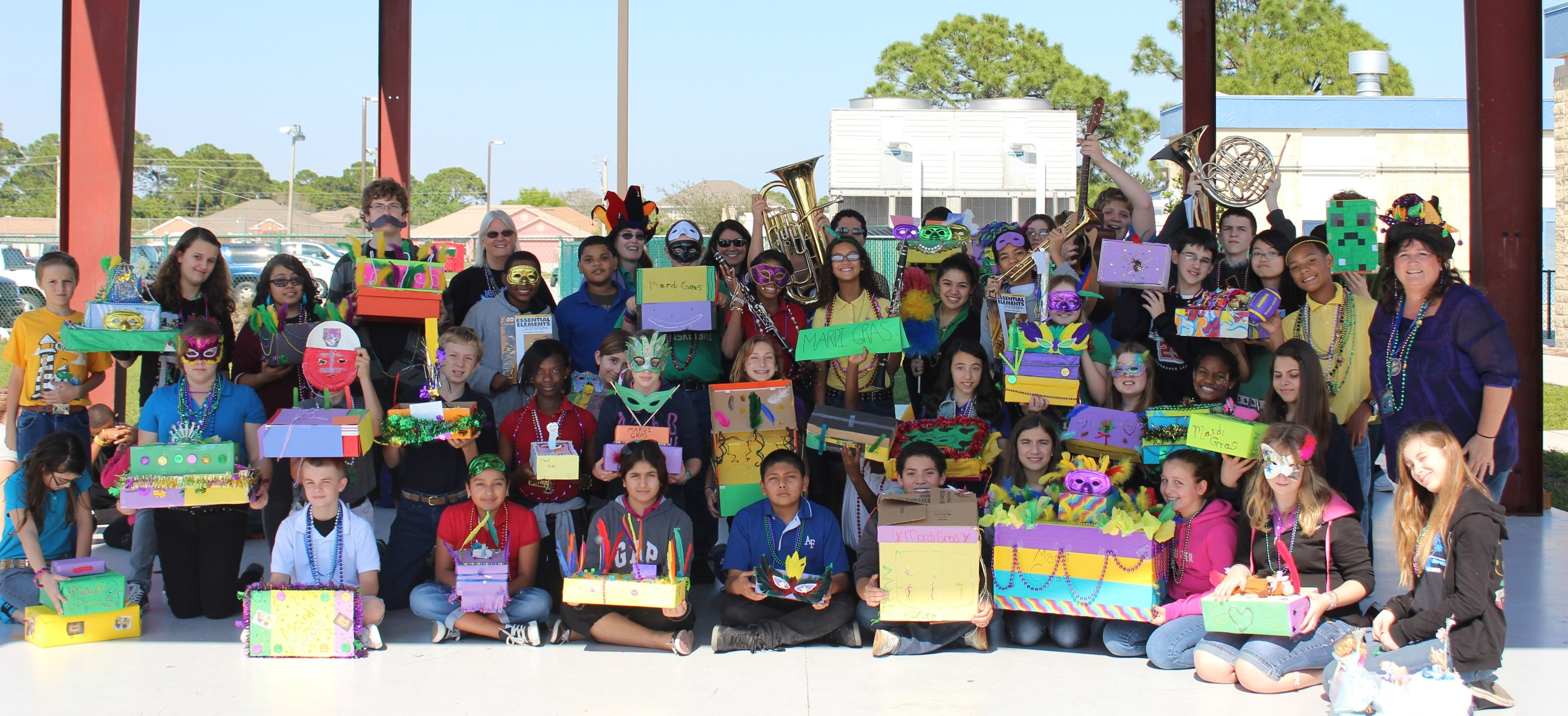 Northport students learn about Mardi Gras traditions