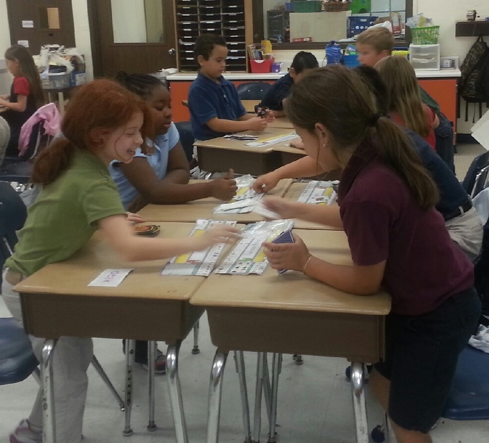 Windmill Point students have fun while learning math