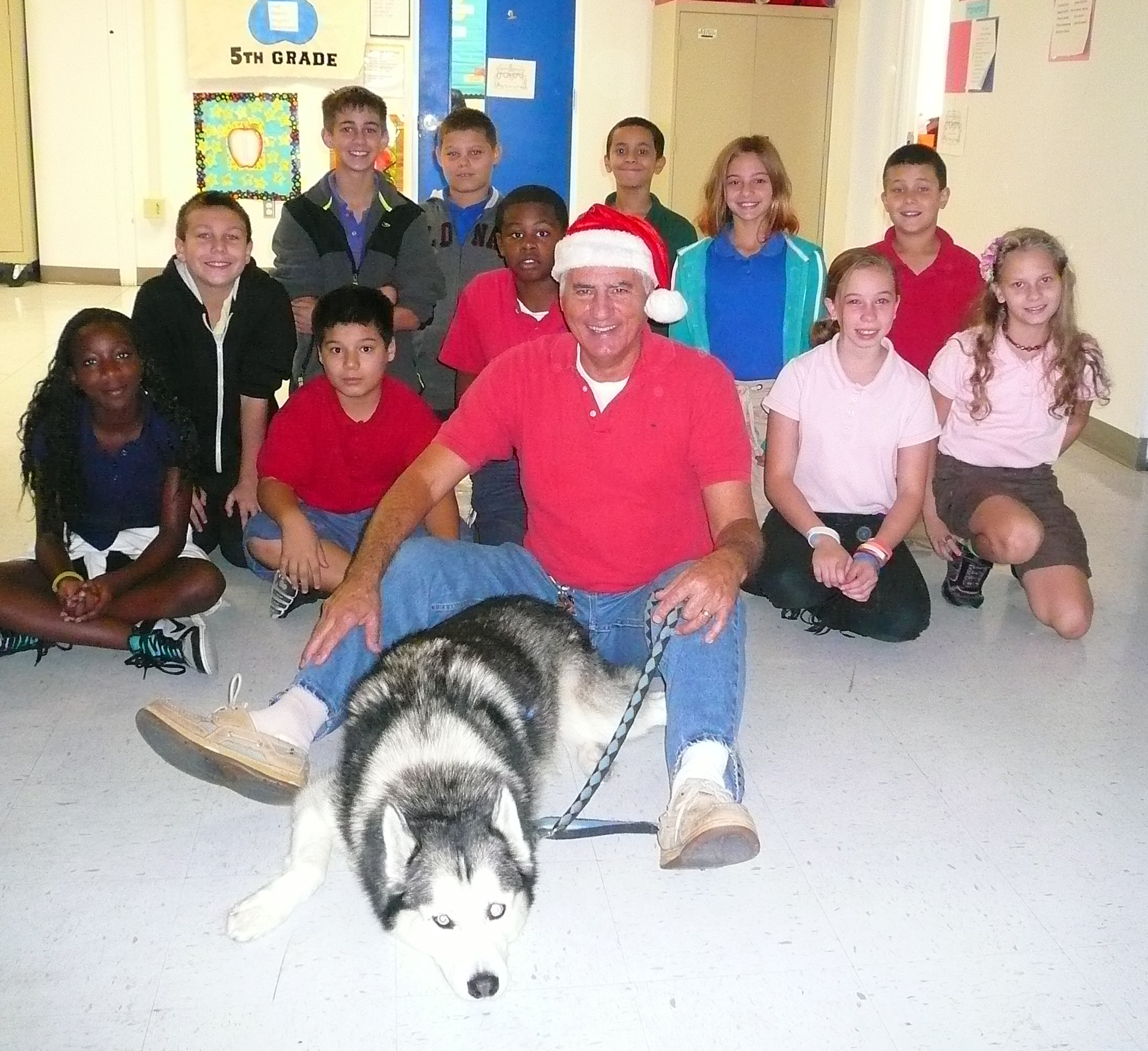 Windmill Point students enjoy special visit from a furry friend