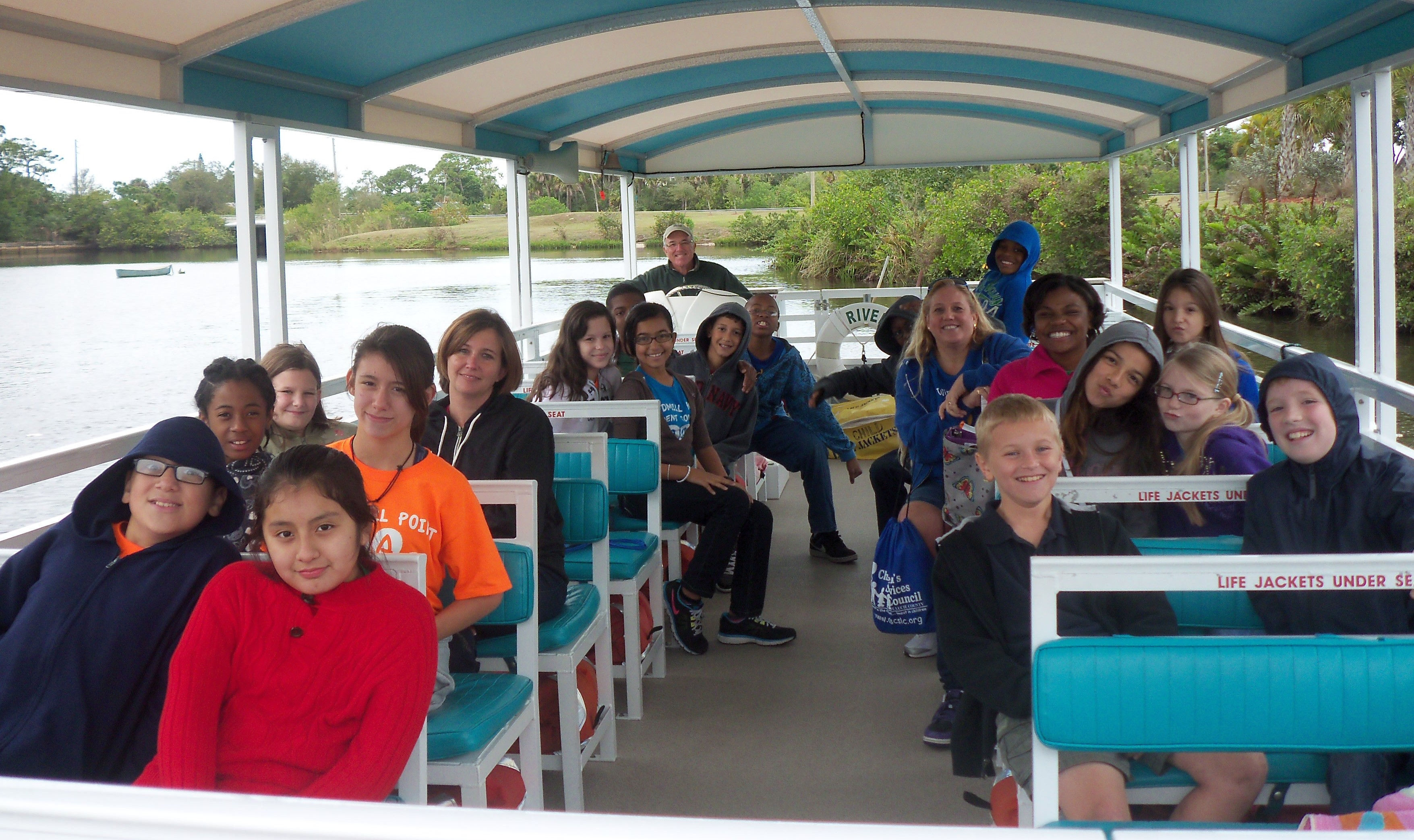Windmill Point students enjoy a boating field trip