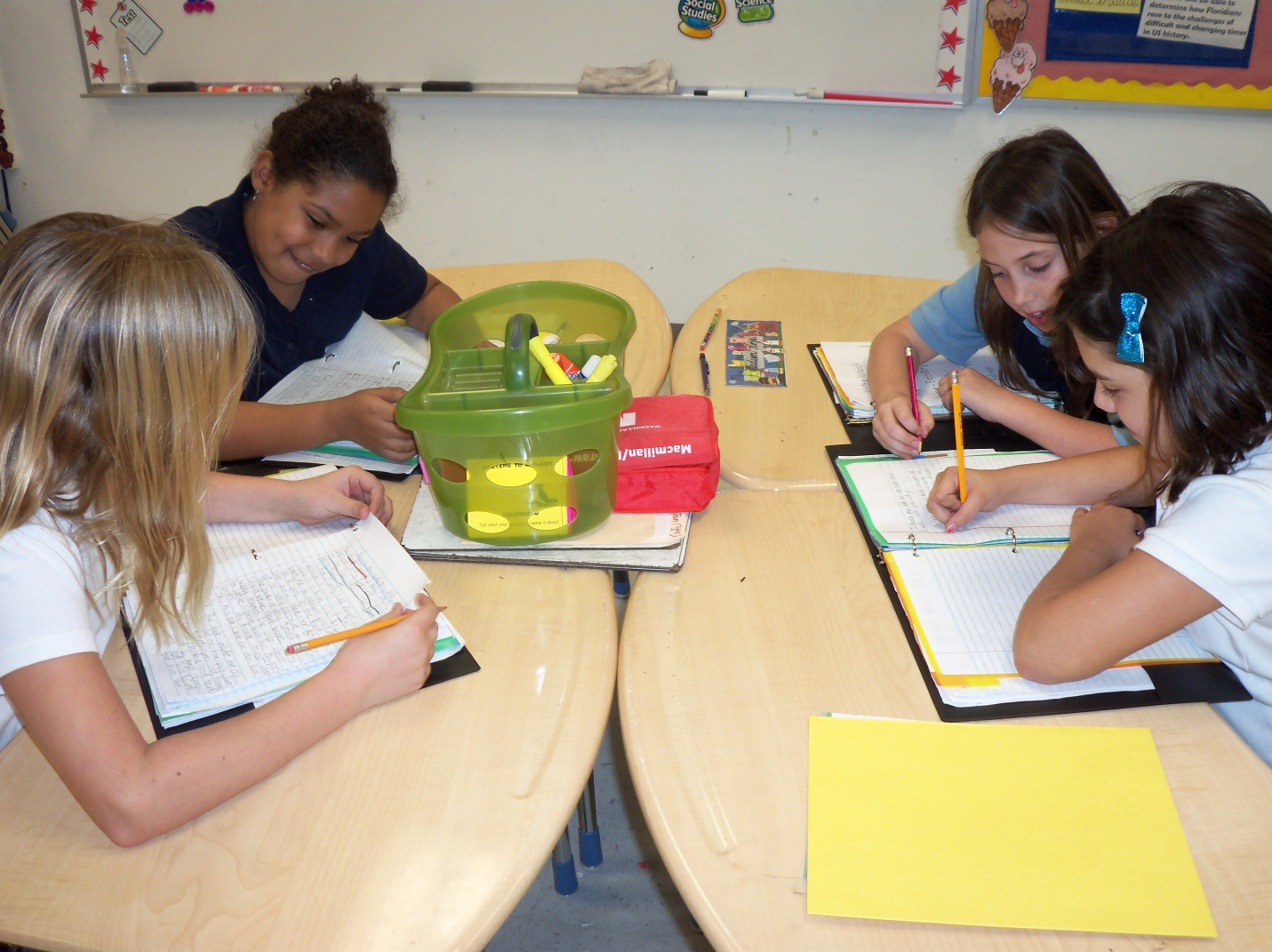 Windmill Point students practice writing skills