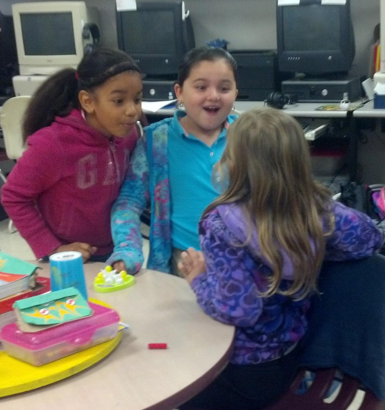 Mariposa Elementary second graders practice spelling skills