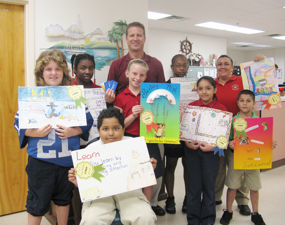 Weatherbee Elementary students participate in Positive Behavior poster contest