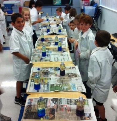 Palm Pointe first graders spend the day as scientists