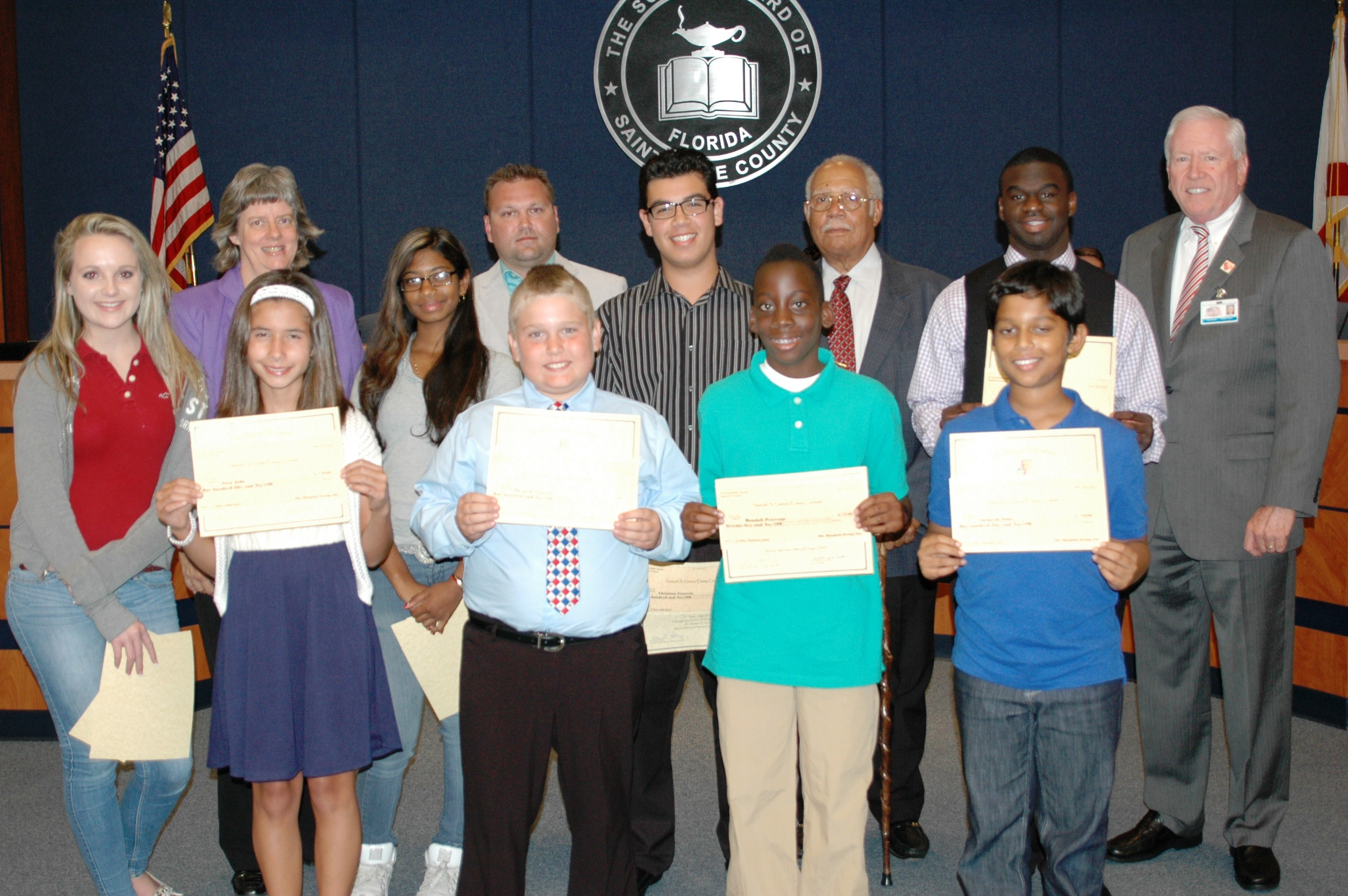 Gaines essay contest winners recognized at school board meeting