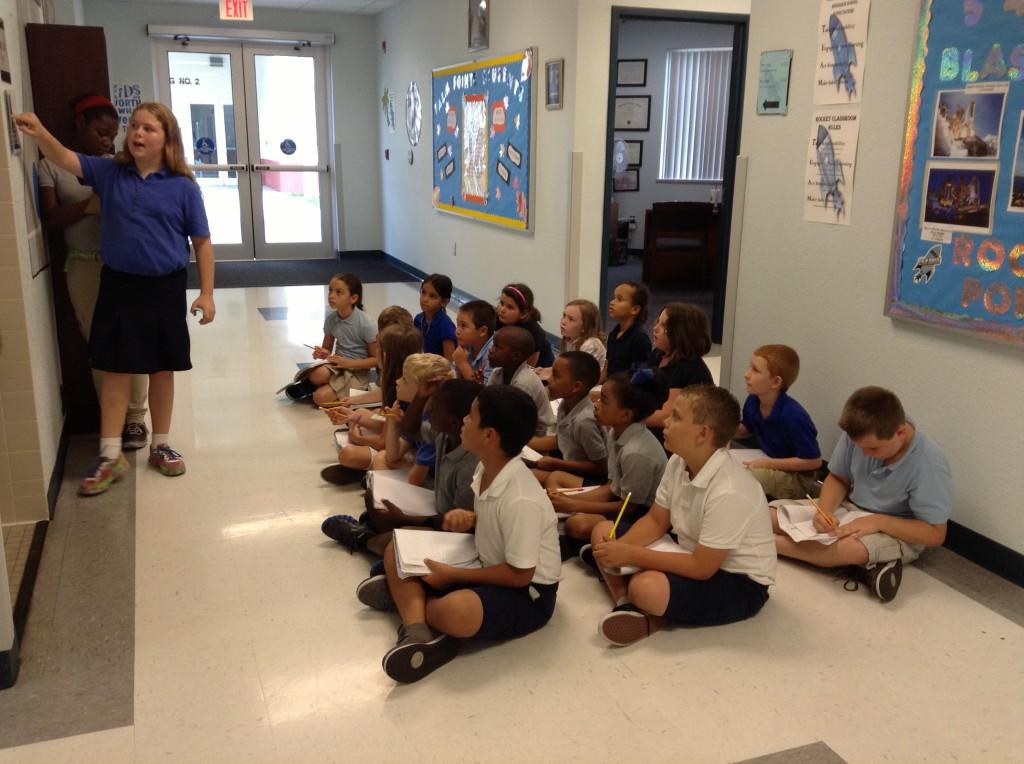 Students enjoy math trails at Palm Pointe