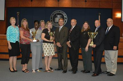 Schools recognized for Bowl for Kids Sake event at school board meeting