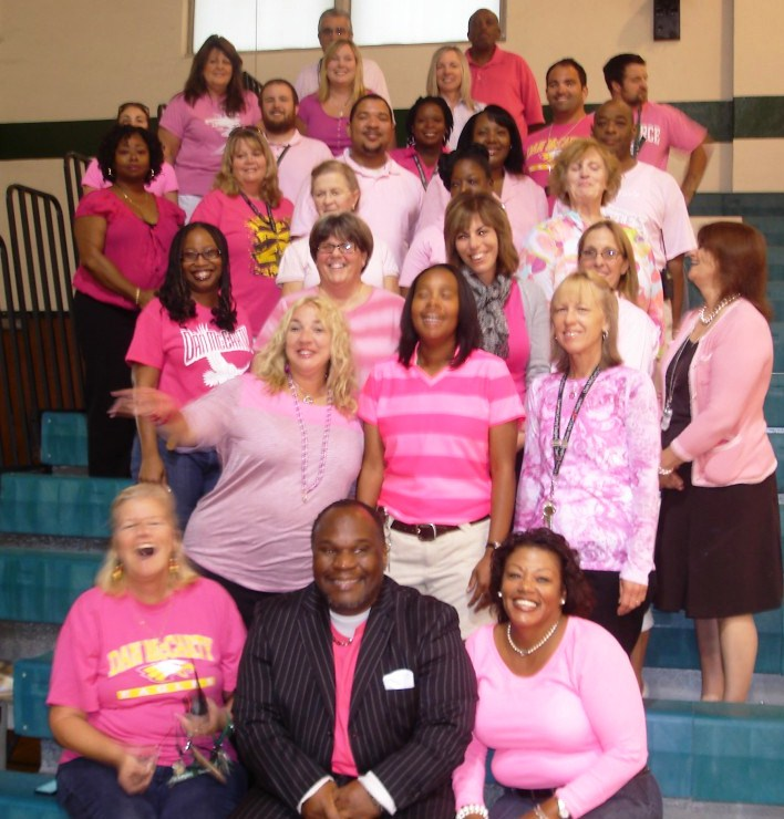 Dan McCarty students and staff show support for good cause