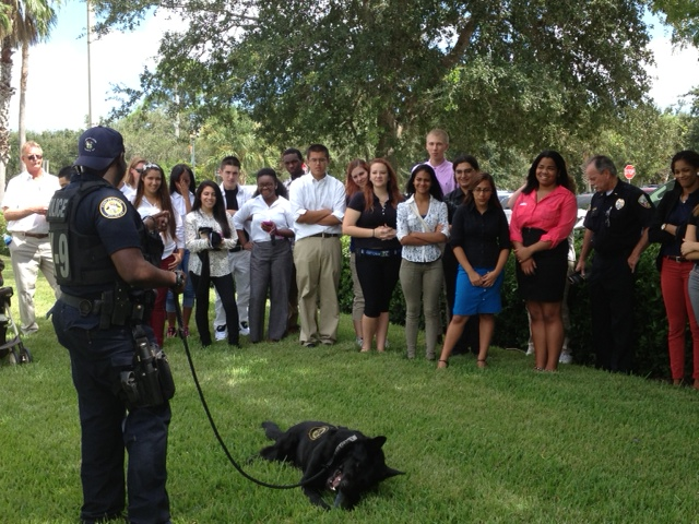 Treasure Coast High criminal justice students visit hosted by police department
