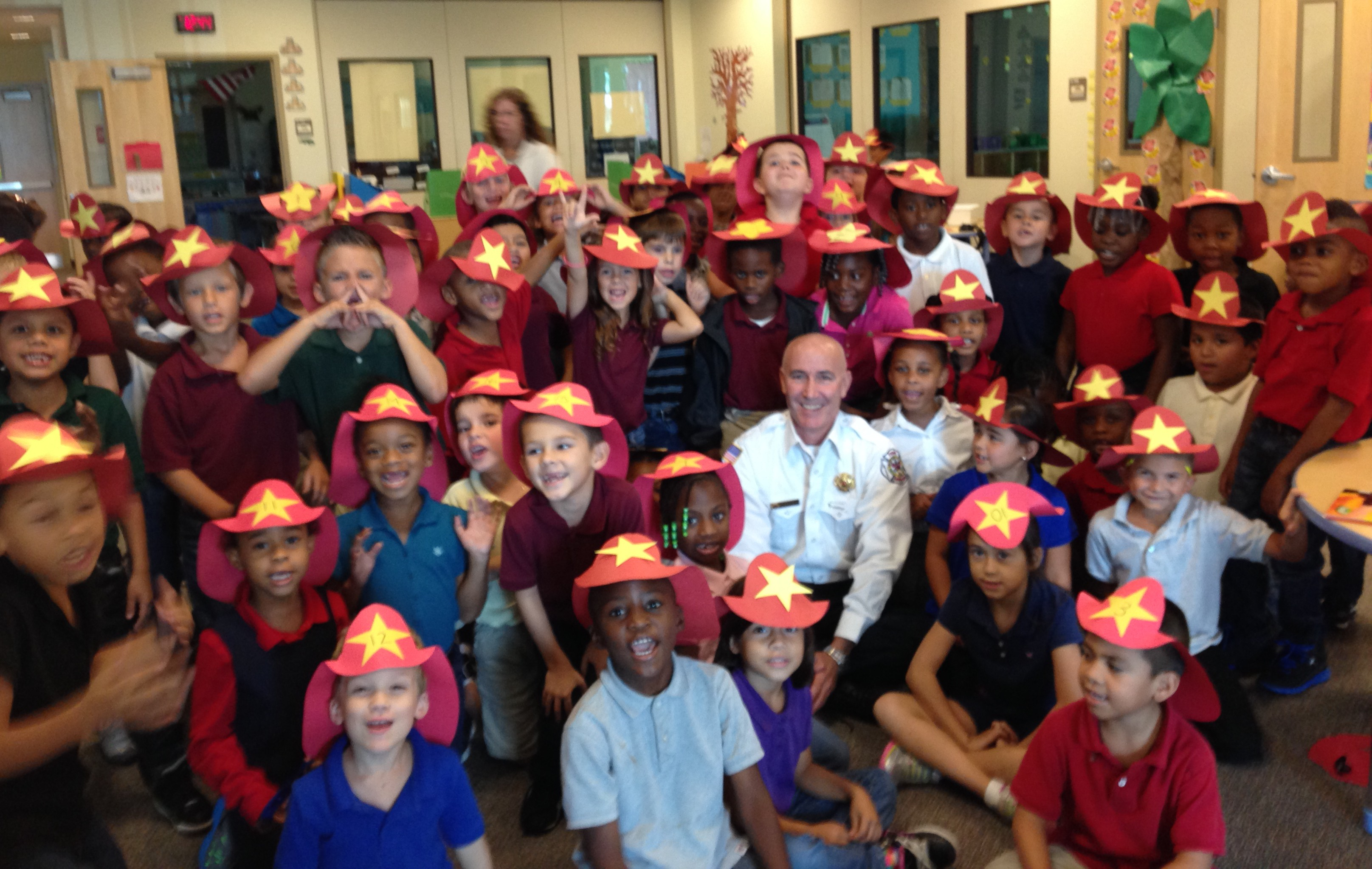 Allapattah Flats first graders get fire safety tips