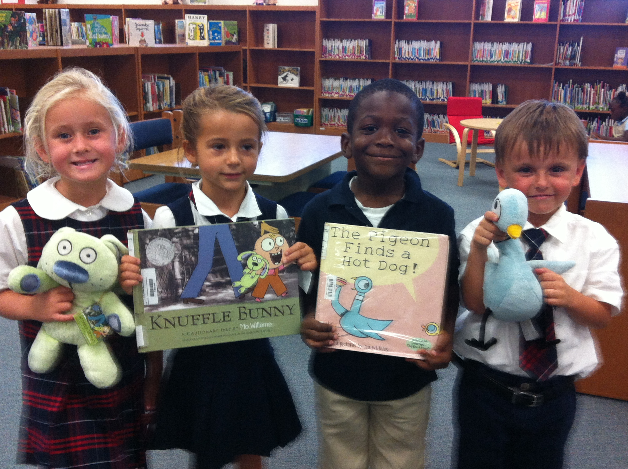 F. K. Sweet kindergartners get familiar with author
