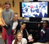 Oak Hammock and Manatee Academy students book chat via technology