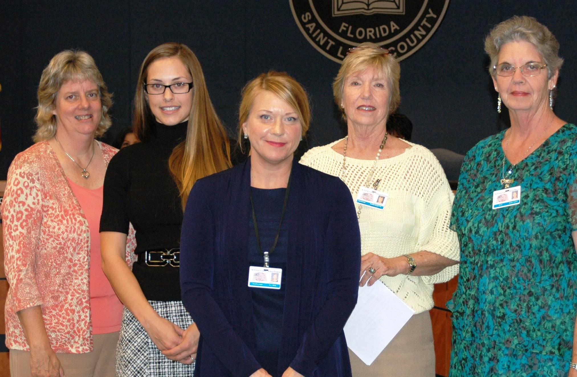 School psychologists recognized by school board