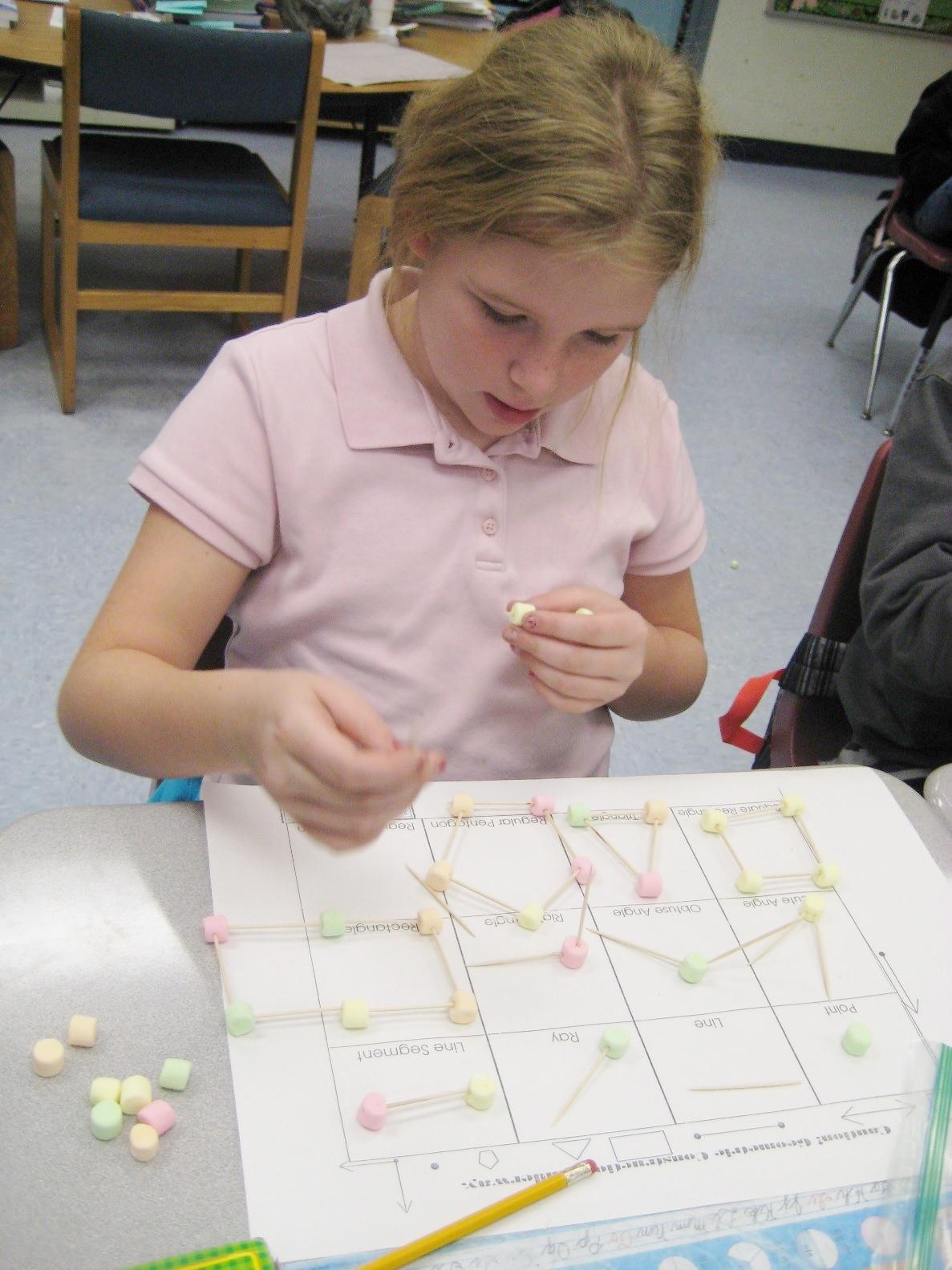 Mariposa Elementary students study geometry