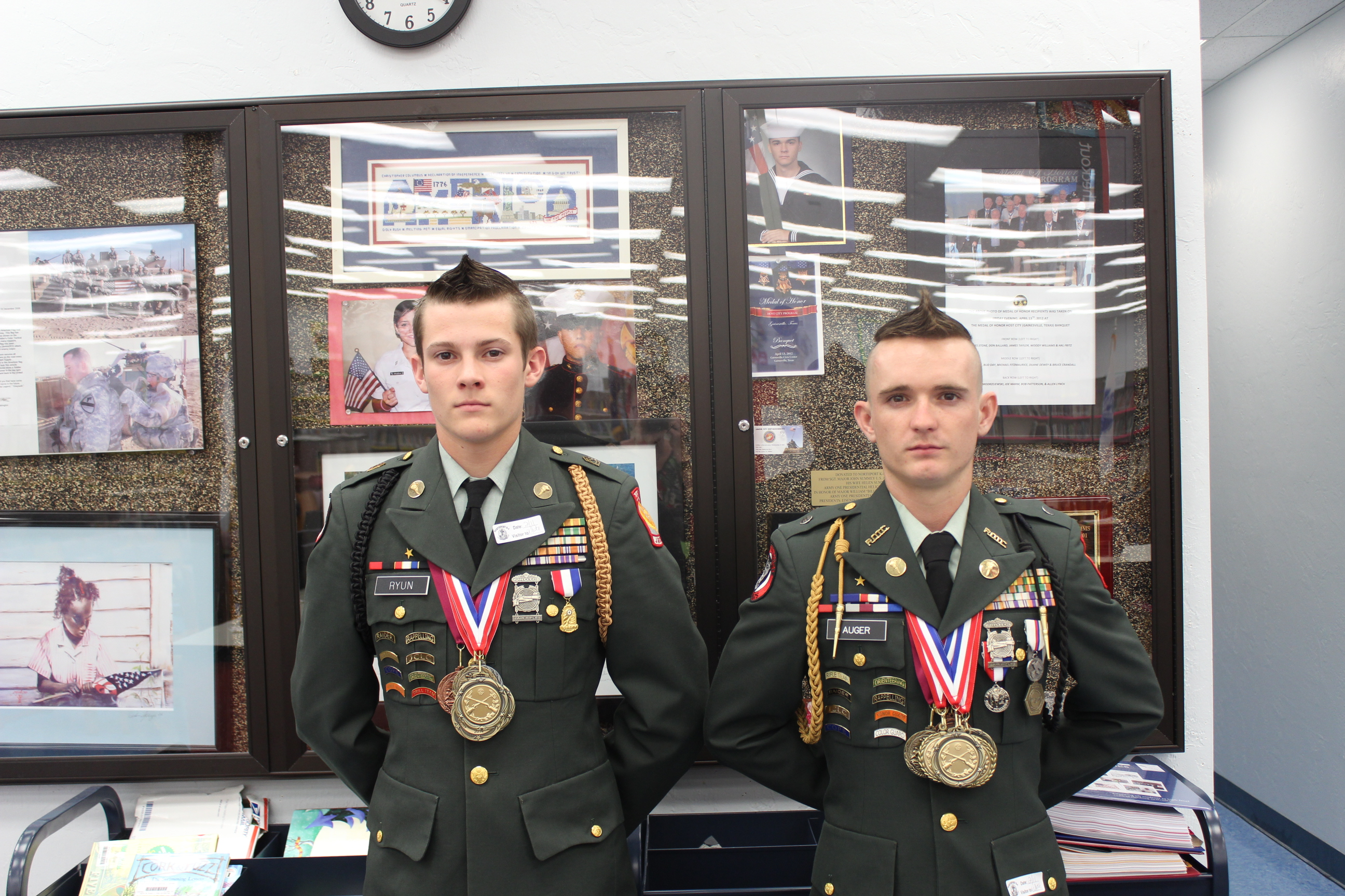 Northport eighth graders host JROTC cadets