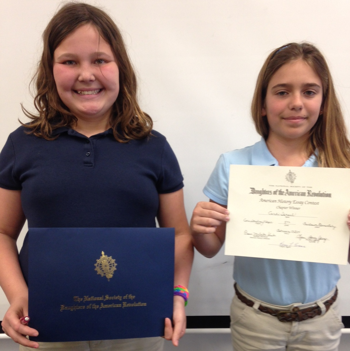 Fairlawn Elementary students sweep DAR essay contest