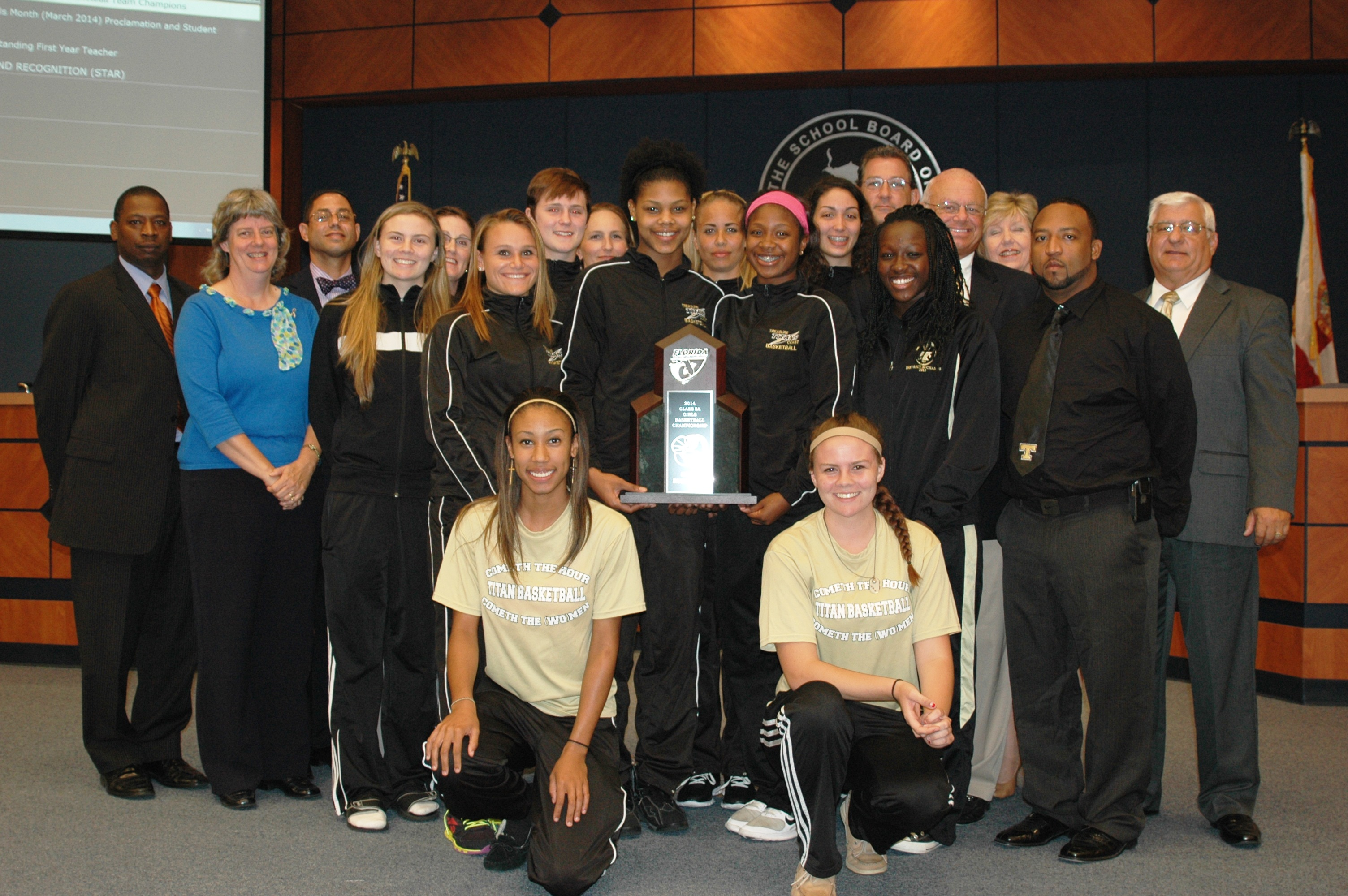 Treasure Coast High School girls hoops team honored at school board meeting