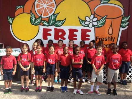 FK Sweet Second Graders Learn About the Citrus Industry