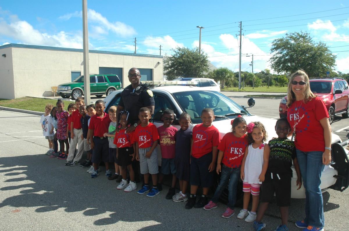 Community Helpers Visit Frances K Sweet Kindergarteners